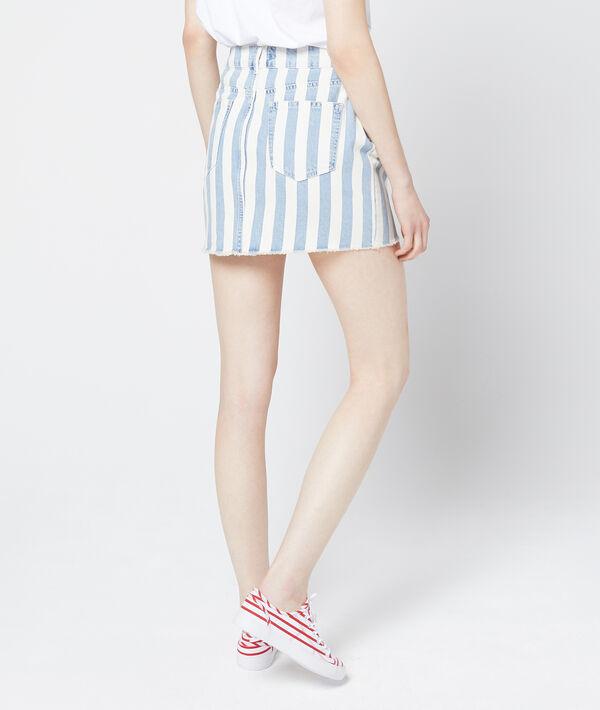 Falda de rayas largas de algodón