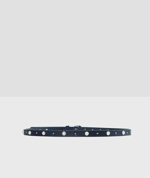 Cinturón con perlas