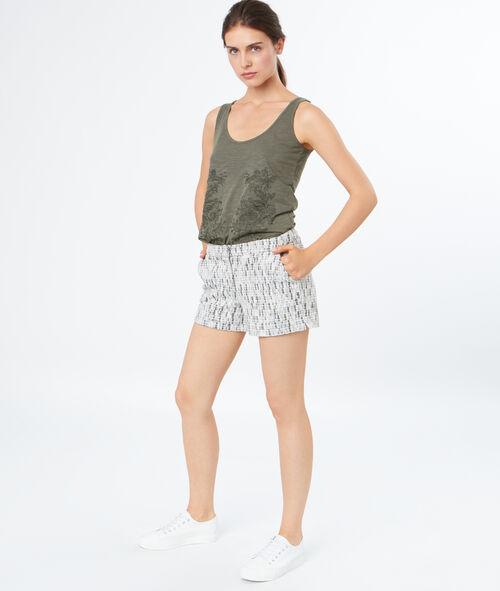 Pantalón corto jacquard