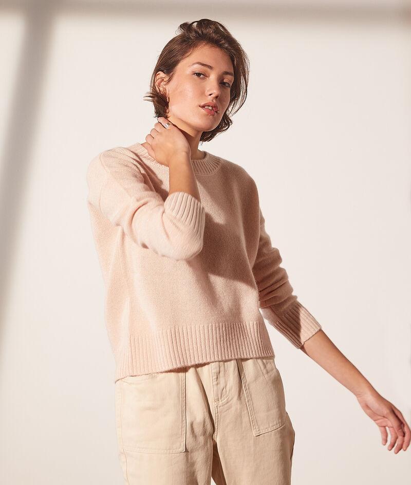 Jersey cuello redondo de lana y cachemira