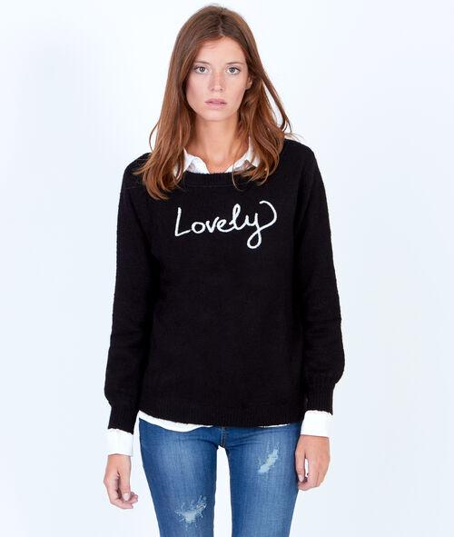 Jersey de lana con inscripción 'You make me happy'