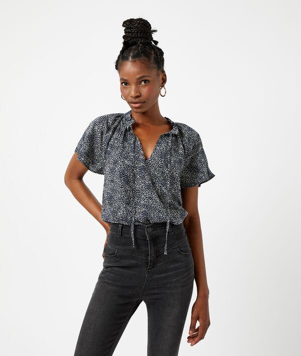 Blusa corta estampada