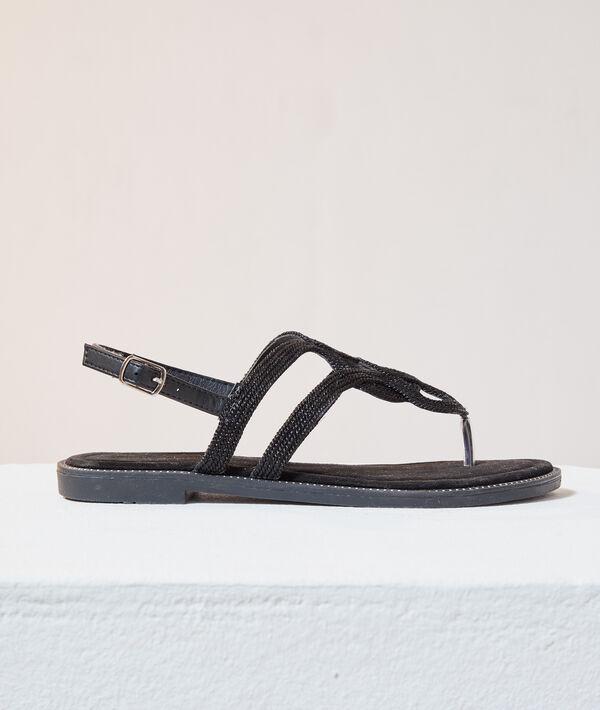 Sandalias planas tiras trenzadas