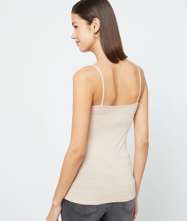 Camiseta escotada de guipur