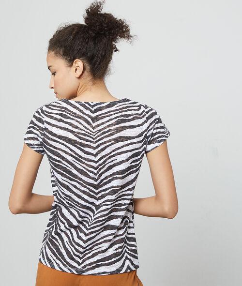 Camiseta estampado cebra