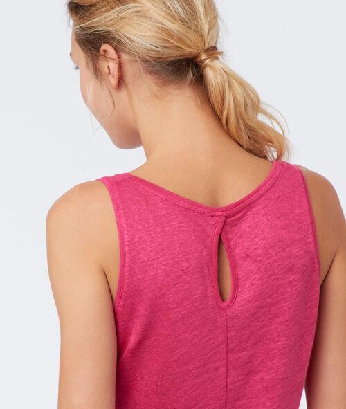 Top lino cuello redondo