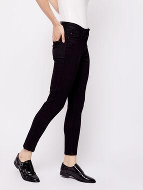 Pantalón vaquero 7/8 negro.