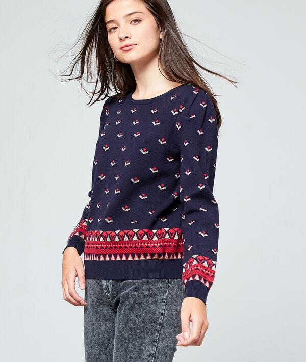 Suéter estampado punto fino