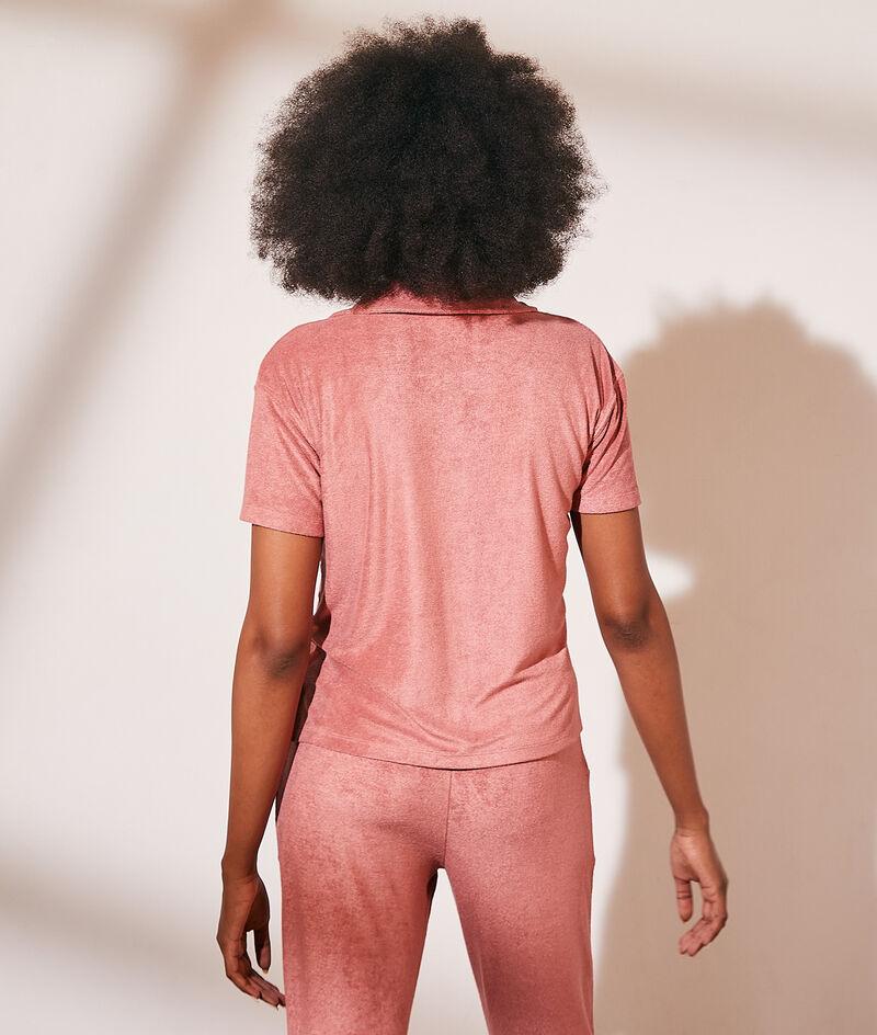 Camisa manga corta, tejido esponja