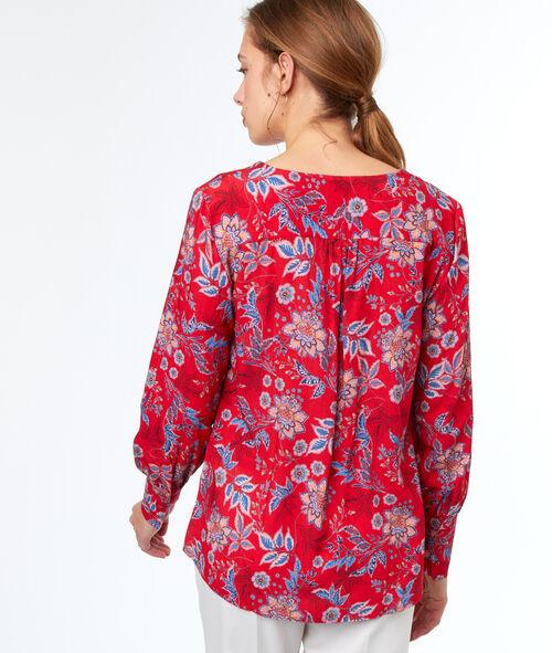 Blusa estampada floral escote V