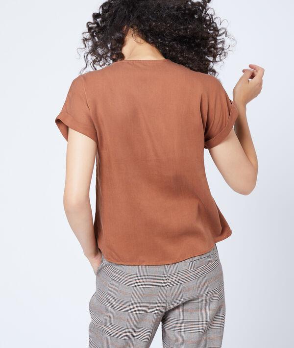 Blusa abotonada de Tencel