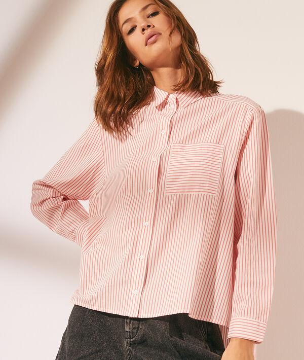 Camisa estampado rayas con bolsillo