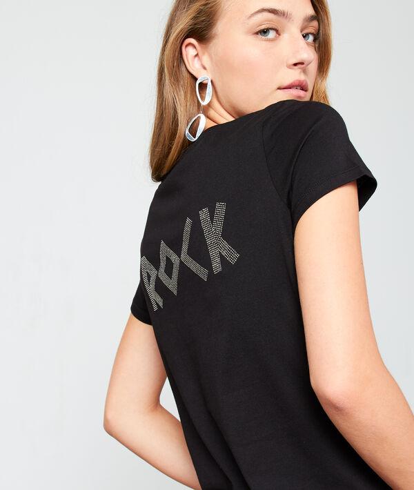 Camiseta 'rock' con pasta de cristal