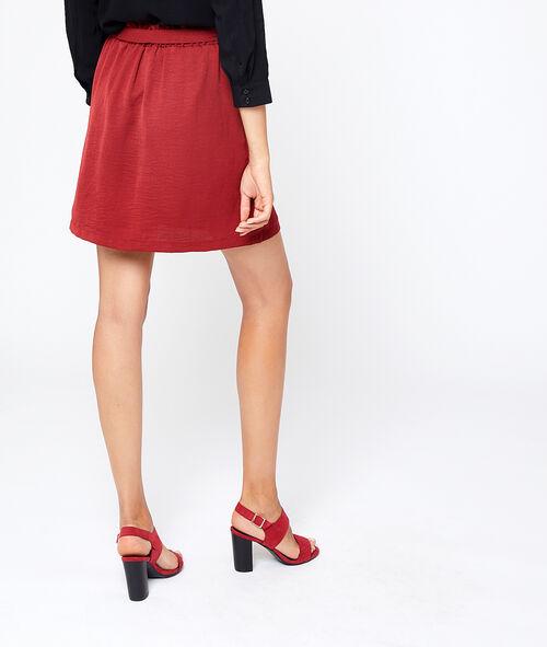 Falda recta anudada
