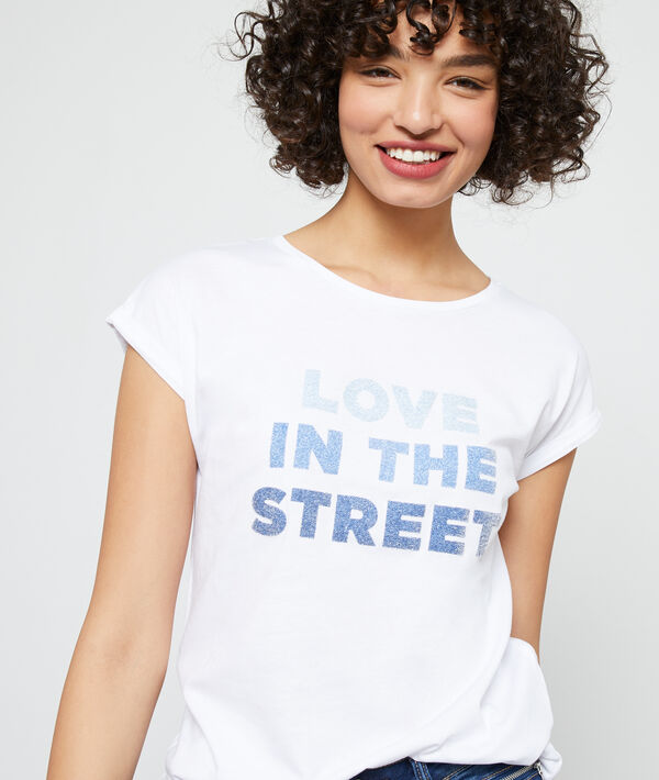 Camiseta de algodón orgánico 'Love in the street'
