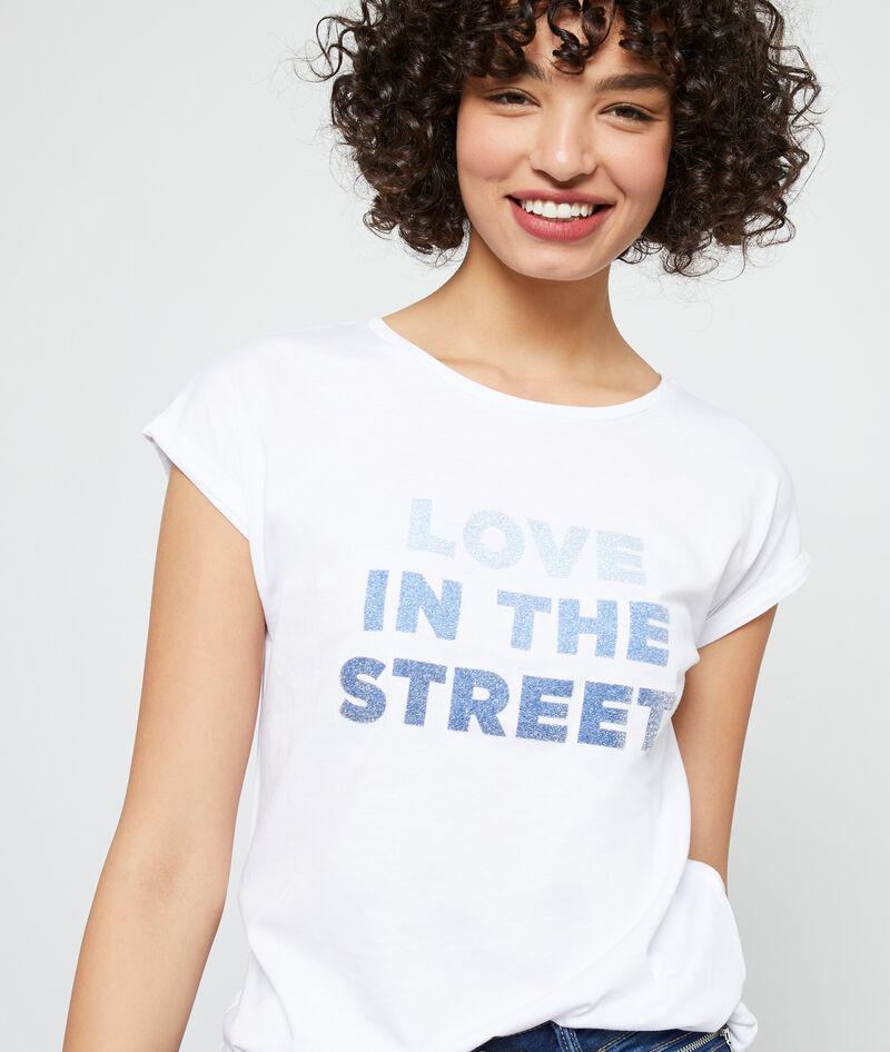 CAMISETA DE ALGODÓN ORGÁNICO 'LOVE IN THE STREET'