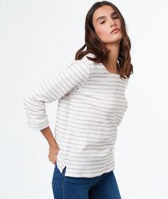 Jersey estampado de rayas blanco.