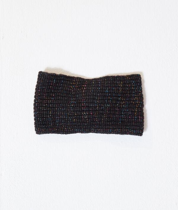 Diadema turbante, hilos metalizados