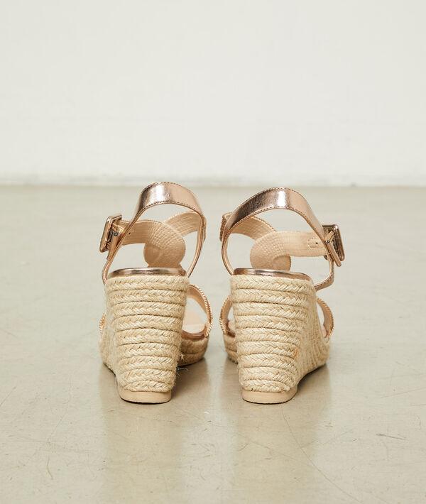 Sandalias trenzadas de cuña