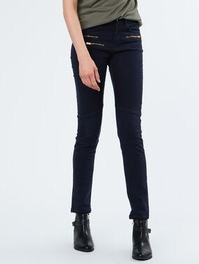 Pantalon poches zippées bleu marine.