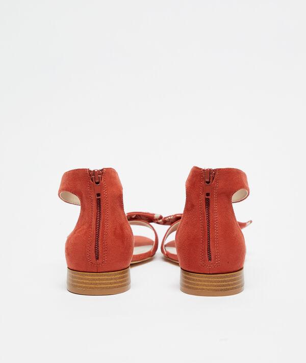 Sandalias anudadas efecto ante
