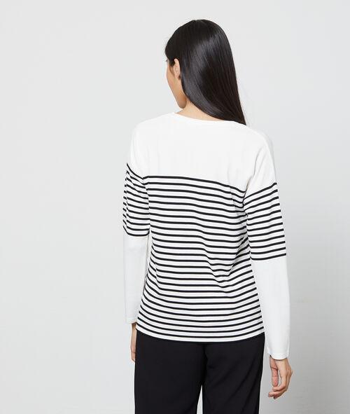 Camiseta efecto sudadera a rayas