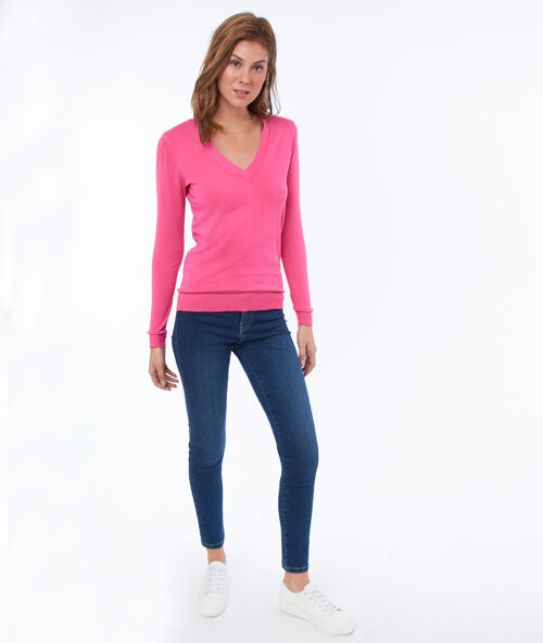 Jersey liso escote en V