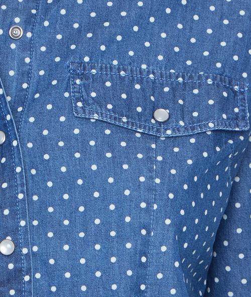 Camisa vaquera estampado a lunares