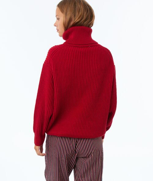 Jersey de punto oversize cuello alto