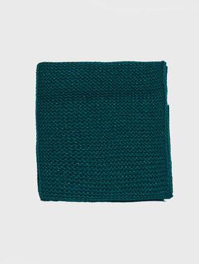 Écharpe tricotée fibres lurex forêt.