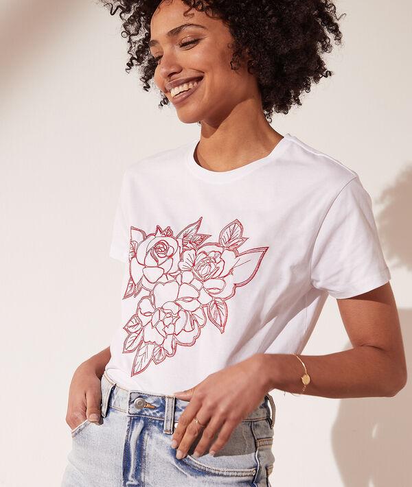 Camiseta bordados florales
