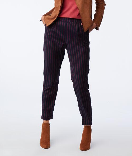 Pantalon cigarette con rayas finas