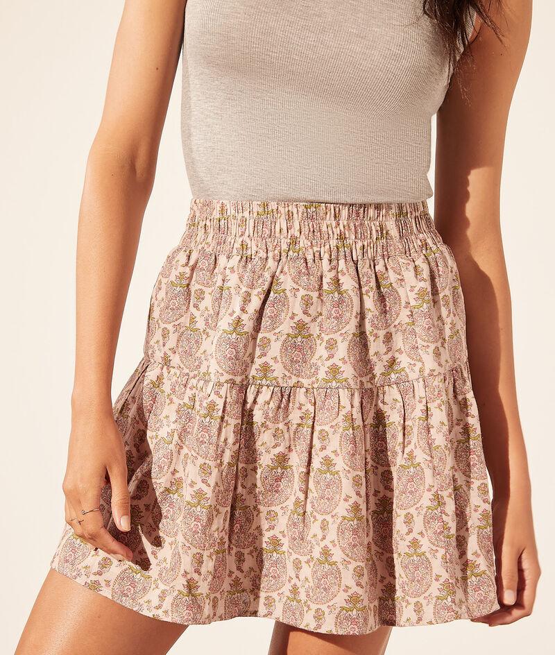 Falda corta estampada