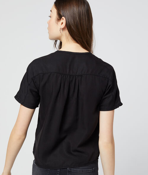 Blusa abotonada en Tencel