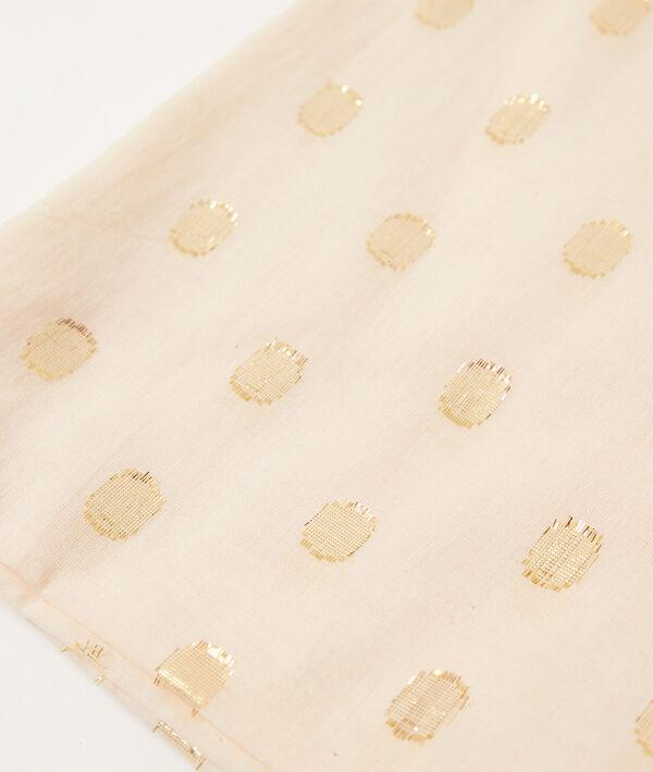 Pañuelo con lunares bordados
