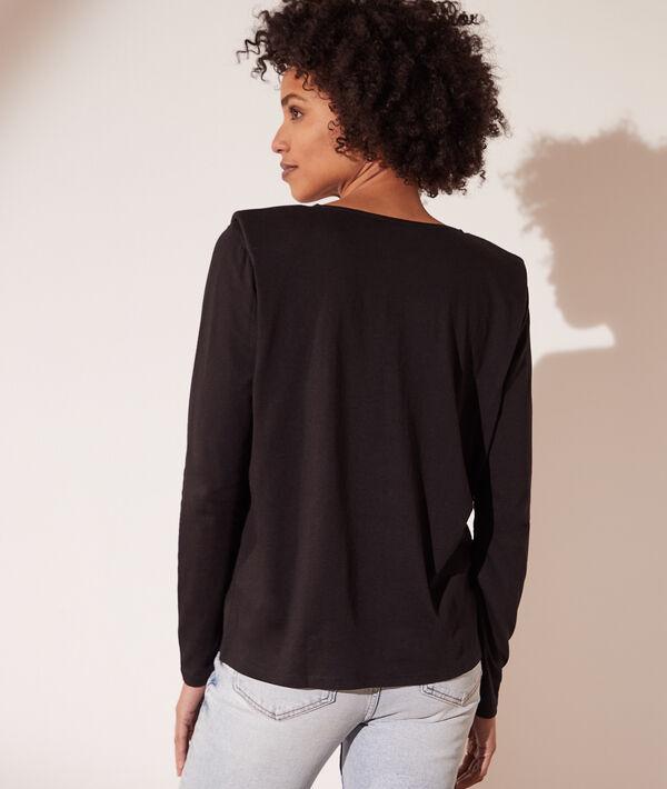 Camiseta manga larga, hombros volumen