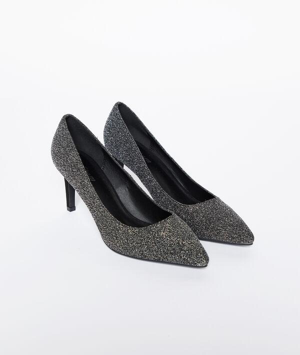 Zapatos de talón con lentejuelas