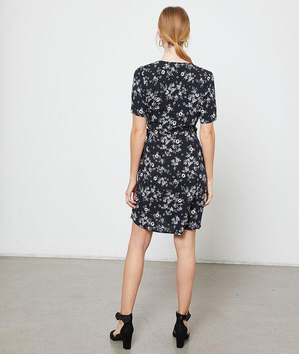 Vestido cruzado estampado floral