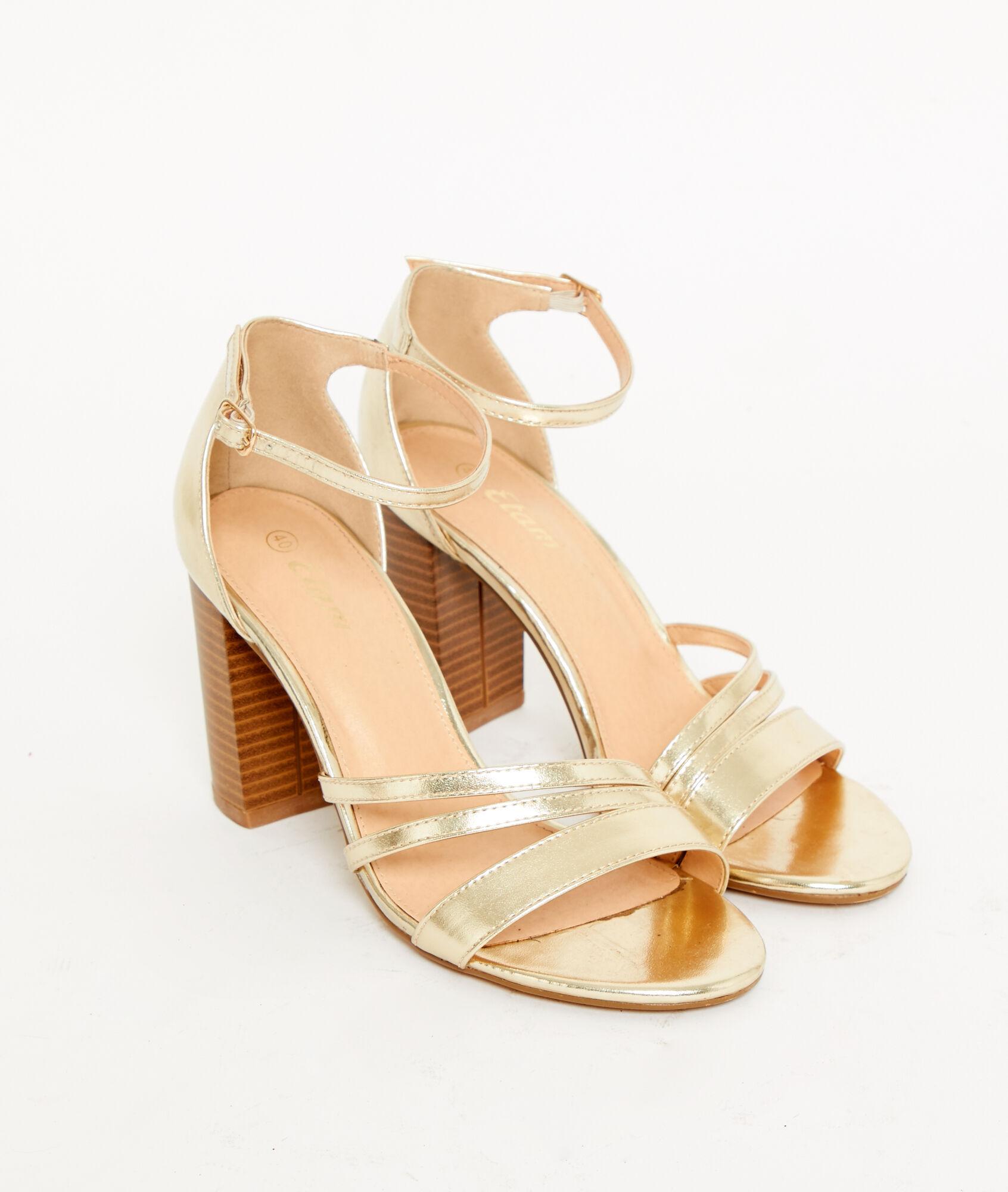 54215a54 Sandalias de tacón doradas - LATINA - DORADO - Etam
