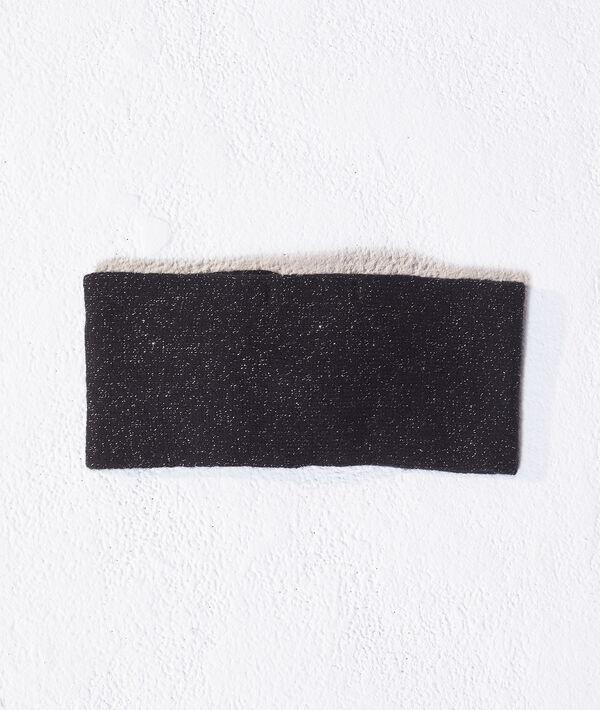 Headband à fils métallisés en cachemire et laine