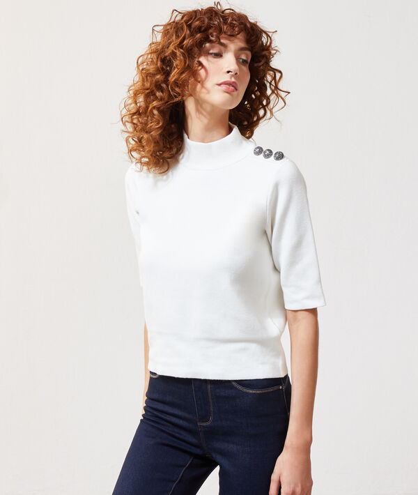 Jersey fino con botones laterales