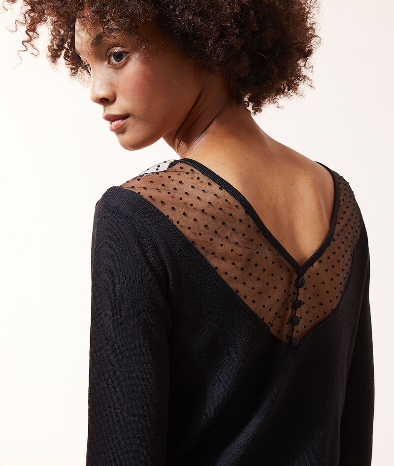 PULL MAILLES FINES TULLE PLUMETIS
