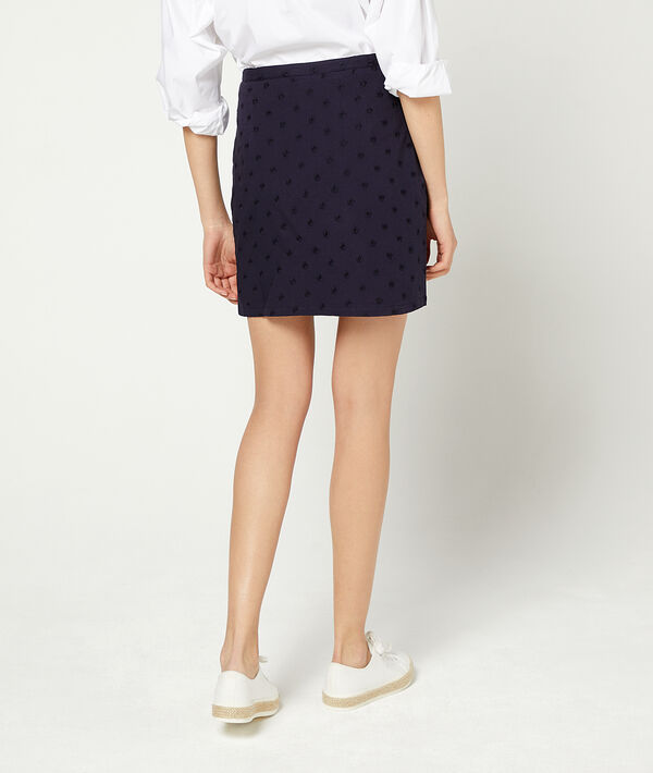Falda con botones guipur