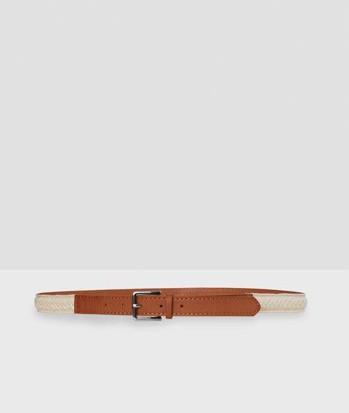 Cinturón bicolor
