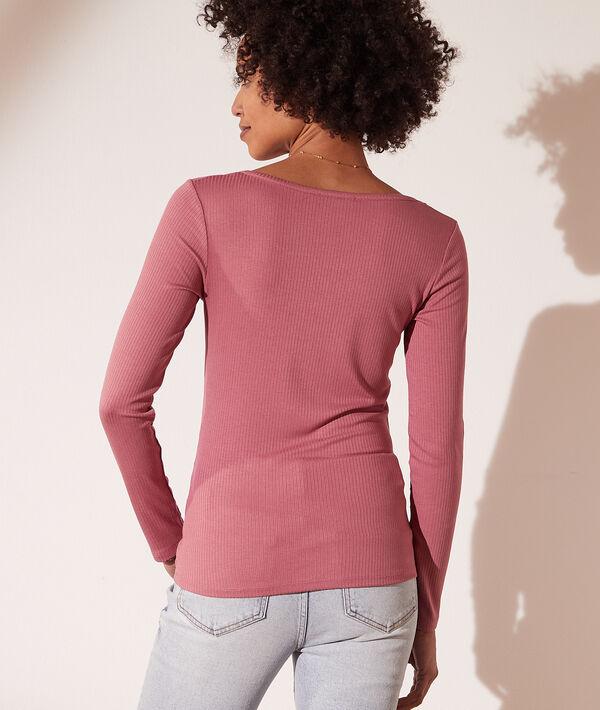 Camiseta canalé, escote cuadrado
