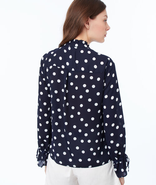 Blusa estampado de lunares