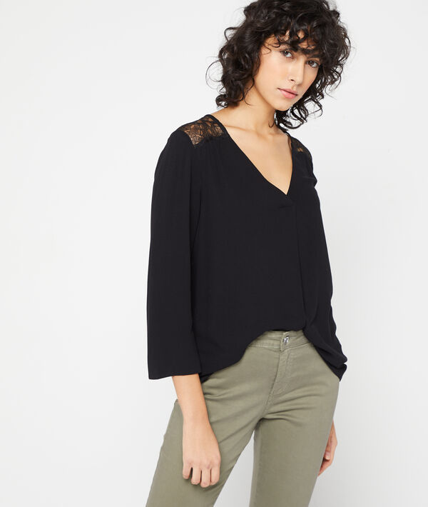 Blusa espalda de guipur
