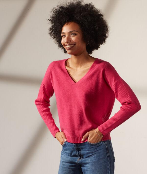 Jersey de lana y cachemir, escote en V