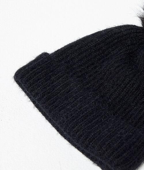 Vestido suéter escotado de encaje
