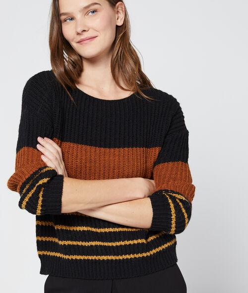 Jersey de punto grueso estampado de rayas